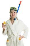 Meisje in badrobe Royalty-vrije Stock Afbeelding