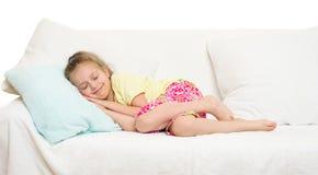 Meisje in bed Royalty-vrije Stock Afbeelding