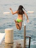 Meisje bij de kust Royalty-vrije Stock Foto's