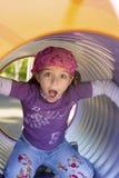 Meisje bij de speelplaats Royalty-vrije Stock Foto's