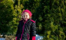 Meisje bij een boomlandbouwbedrijf Royalty-vrije Stock Foto