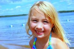 Meisje bij het Meer Stock Foto