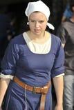 Meisje bij het Middeleeuwse Festival, Nuremberg 2013 Royalty-vrije Stock Afbeelding