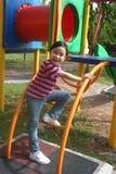 Meisje bij het park stock foto
