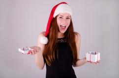 Meisje bij Kerstmis Royalty-vrije Stock Afbeeldingen