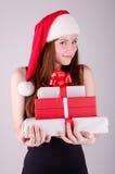 Meisje bij Kerstmis Royalty-vrije Stock Afbeelding