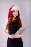 Meisje bij Kerstmis Stock Foto