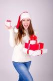 Meisje bij Kerstmis Royalty-vrije Stock Fotografie