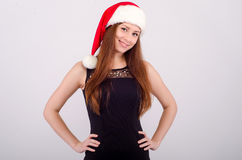 Meisje bij Kerstmis Stock Afbeelding