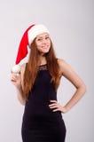 Meisje bij Kerstmis Royalty-vrije Stock Foto's
