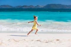 Meisje bij strand Royalty-vrije Stock Foto