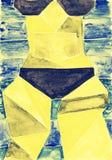 Meisje in Bikini stock illustratie