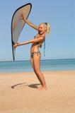 Meisje in Bikini op het Strand royalty-vrije stock afbeeldingen