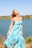 Meisje in blauw Royalty-vrije Stock Afbeelding