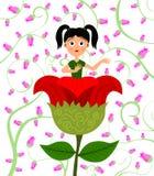 Meisje in bloem Stock Afbeeldingen