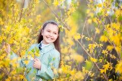 Meisje in bloemen Royalty-vrije Stock Foto's