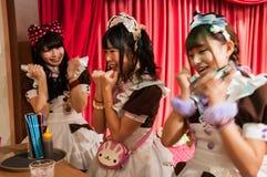 Meisje Cafe in Akihabara, Tokyo, Japan Royalty-vrije Stock Fotografie
