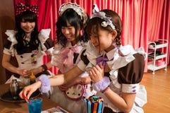 Meisje Cafe in Akihabara, Tokyo, Japan Royalty-vrije Stock Afbeeldingen