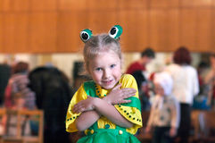 Meisje in Carnaval kostuum royalty-vrije stock afbeelding