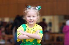 Meisje in Carnaval kostuum royalty-vrije stock fotografie