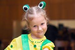 Meisje in Carnaval kostuum royalty-vrije stock foto