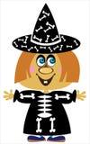 Meisje in Carnaval-kostuum Halloween royalty-vrije illustratie