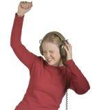 Meisje dat aan Muic danst Stock Fotografie