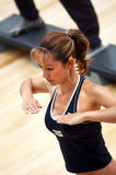 Meisje dat aerobics doet Royalty-vrije Stock Afbeelding