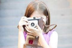 Meisje dat Beeld neemt stock foto's