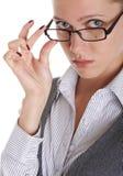 Meisje dat bril draagt Royalty-vrije Stock Afbeelding