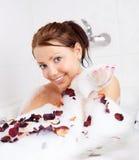 Meisje dat een bad neemt Royalty-vrije Stock Fotografie