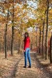 Meisje dat in een park loopt Stock Afbeelding