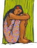 Meisje dat een rust heeft. Royalty-vrije Stock Foto