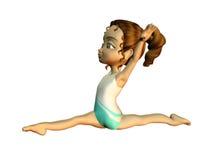 Meisje dat gymnastiek doet Vector Illustratie