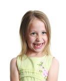 Meisje dat haar twee voortanden mist Royalty-vrije Stock Afbeeldingen