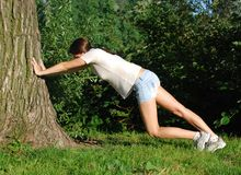 Meisje dat oefening doet Royalty-vrije Stock Fotografie