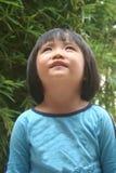 Meisje dat omhoog kijkt Stock Afbeelding