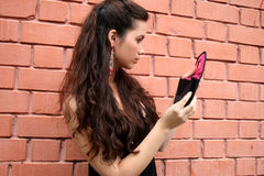 Meisje dat omhoog maakt Royalty-vrije Stock Fotografie