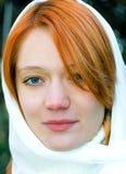Meisje dat sluier draagt Royalty-vrije Stock Foto's