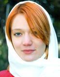 Meisje dat sluier draagt Royalty-vrije Stock Foto