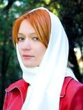 Meisje dat sluier draagt Stock Fotografie
