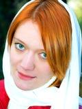 Meisje dat sluier draagt Stock Foto