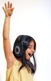 Meisje dat van muziek geniet Royalty-vrije Stock Foto's