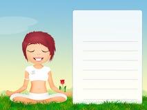 Meisje dat yoga doet stock illustratie