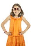 Meisje dat zonnebril draagt Stock Afbeelding