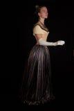 Meisje in de 19de eeuwkleding Royalty-vrije Stock Afbeelding