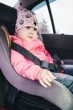 Meisje in de auto Royalty-vrije Stock Afbeelding