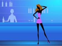Meisje in de club stock illustratie