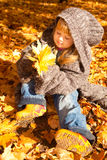 Meisje in de herfstpark Royalty-vrije Stock Foto's