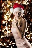 Meisje de Kerstman met kaars Royalty-vrije Stock Fotografie